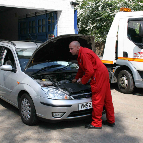 Hatfields Garage for tyres and repairs